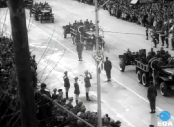 Ιωάννινα, 21 Φεβρουαρίου 1963:  Στρατιωτική παρέλαση για τον εορτασμό της 50ής επετείου της απελευθέρωσης των Ιωαννίνων.